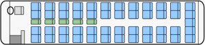大型ハイデッカー 座席図